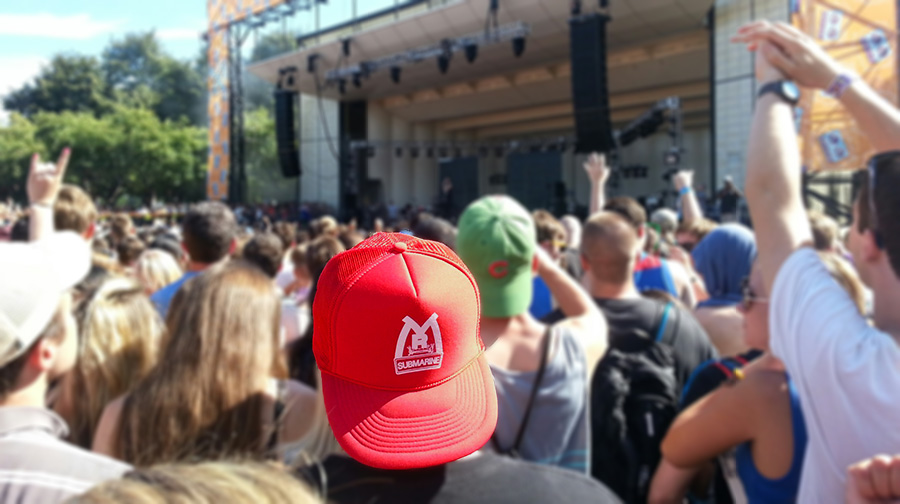 Find the Red Mr. Submarine Snapback Trucker Hat